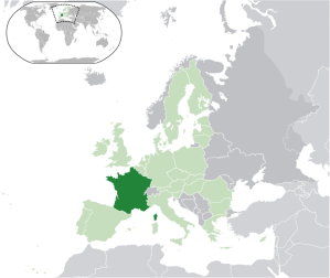 France in the dark green (Wikipedia Commons)