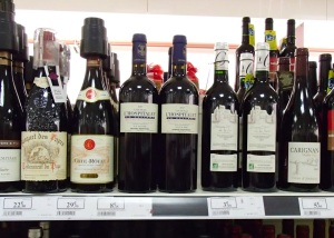 Varied wines and prices