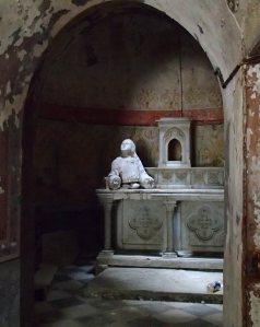 Within the Chapel in the Jardin du Calvaire