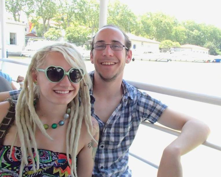 Liz and Adam enjoying their Barge cruise on the Canal du Midi