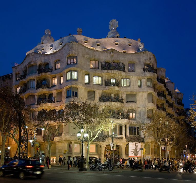 Casa Milà, better known as La Pedrera. (Wikimedia Commons)