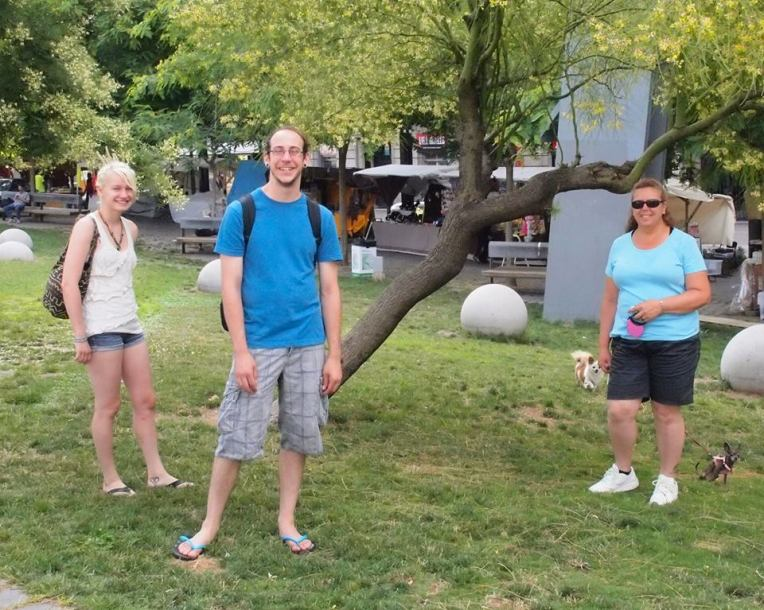 Liz, Adam, Tracy, and Kiara at the Dog Park