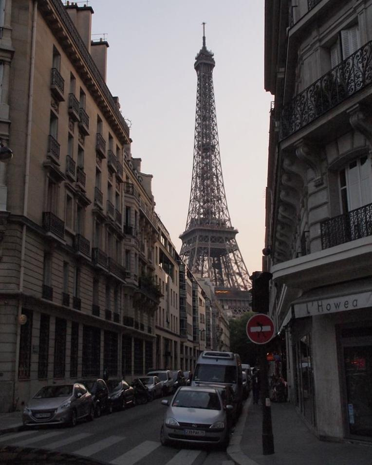 Eiffel Tower seen from the 7th arrondissement