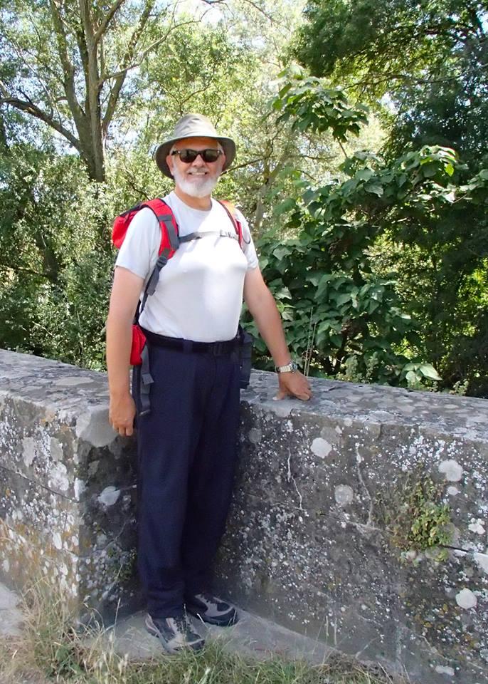 Alan training for the Camino de Santiago