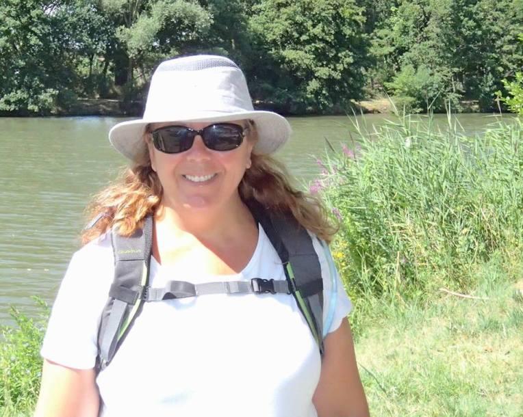 Tracy training for the Camino de Santiago