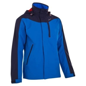 Forclaz 300 Men's hiking jacket, Blue/Red by Quechua