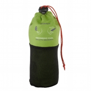 Compact Hiking Towel, Green by Quechua