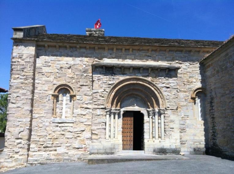 Entrance to the Knights of Malta chapel in Cizur Menor