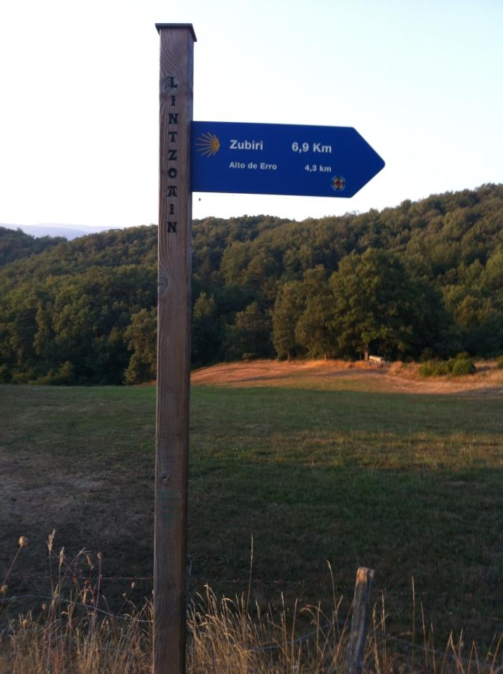 Signpost for Zubiri