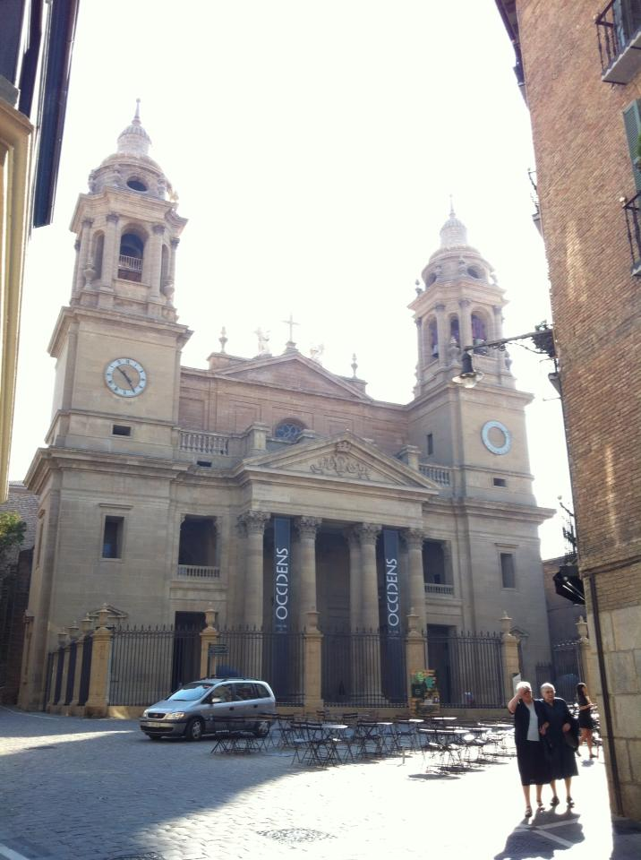 The beautiful cathedral in Pamplona