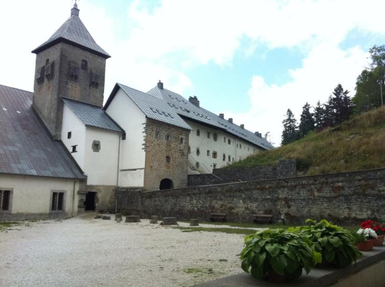 Courtyard of the convent in Roncesvalles serving pilgrims since the 12th century