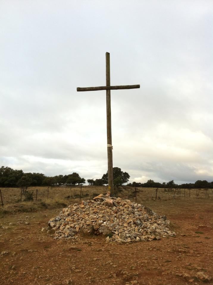 Crucifix marking the peak, Sierra Atapuerca