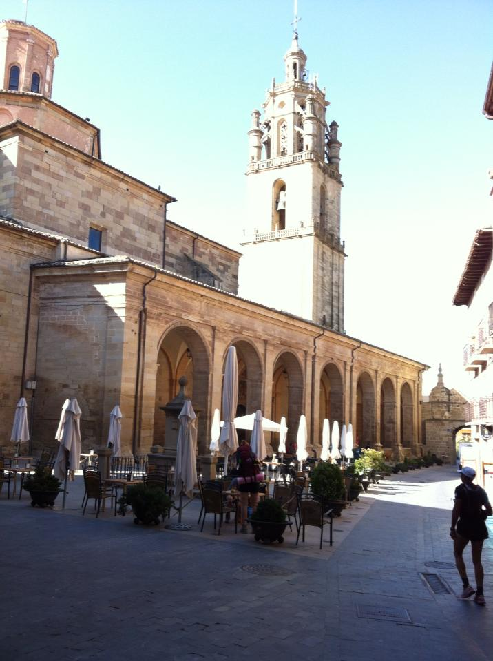 Plaza de Santa Maria de los Arcos with bell tower