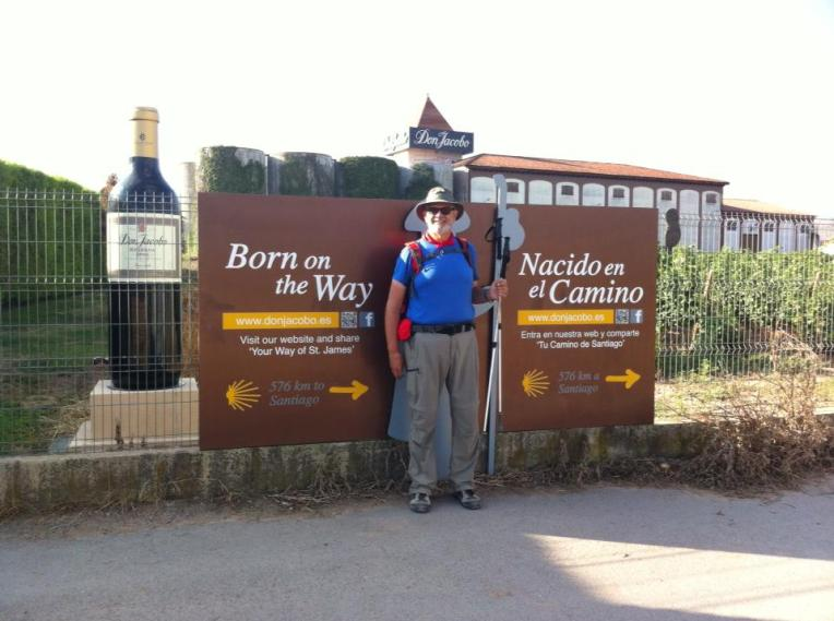 Alan in front of the Don Jacobe winery near Navarette