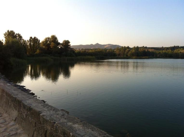 Pantano de la Grajera reservoir near Logrono
