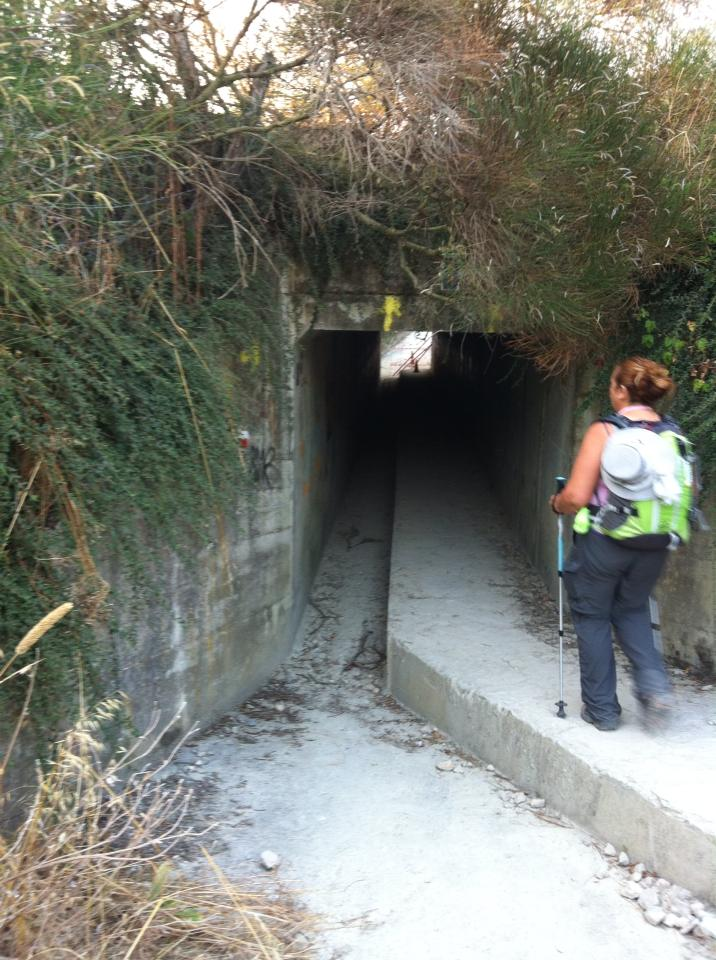 Tunnel under the PA-30 freeway near Monte Miravalles