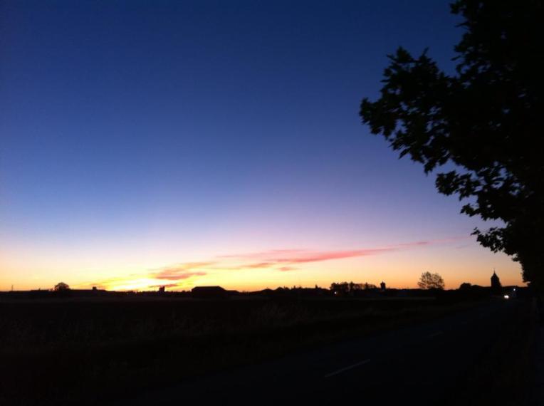 Sunrise near El Burgo Ranero