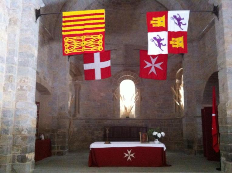 Interior of the Knights of Malta chapel in Cizur Menor