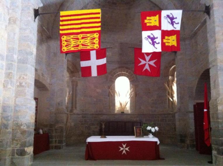 Interior of the Knights of Malta chapel in Cizur Menor