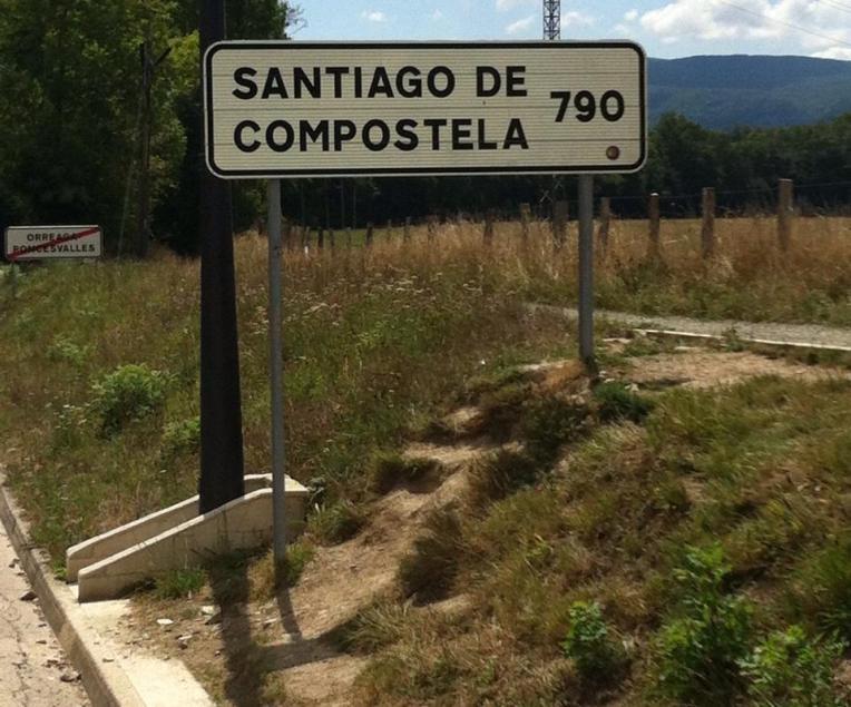 Santiago Signpost in Roncesvalles