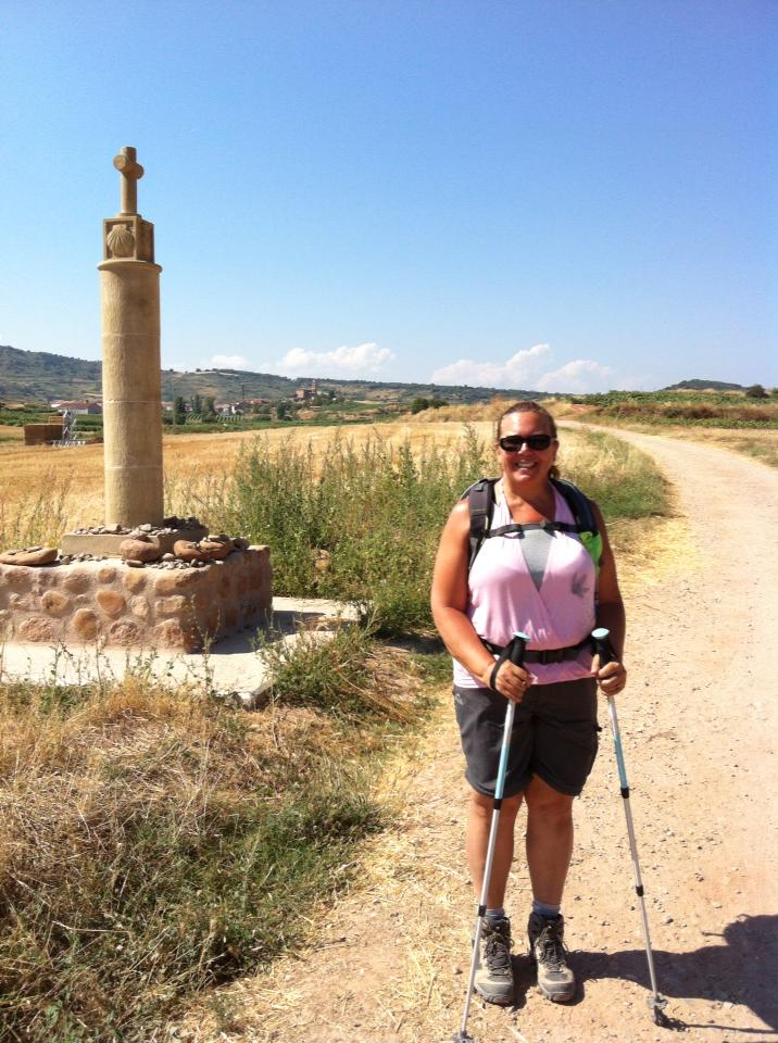 Camino pillar near Ventosa
