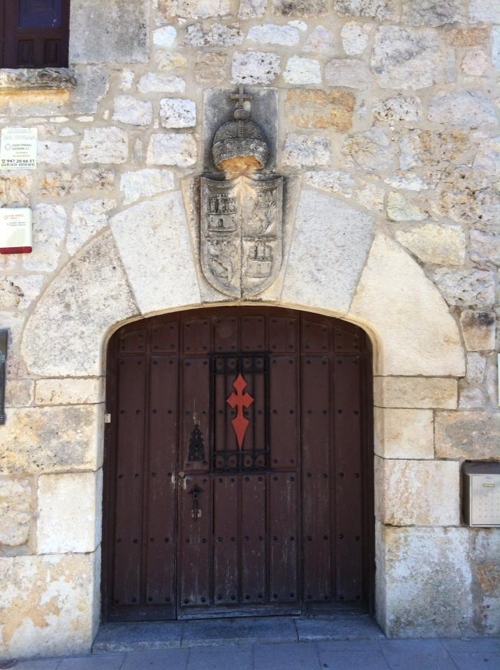 Entry to the church in San Juan de Ortega, belying the grandeur within