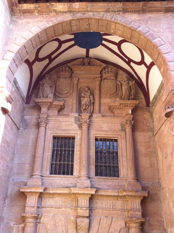 Portico of the Monasterio Santa Maria de la Real, 12th century, in Najera