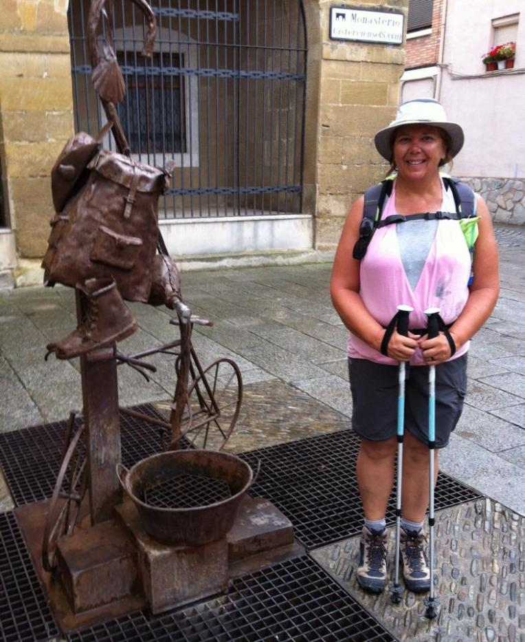 Camino sculpture near the convent in Santo Domingo de la Calzada