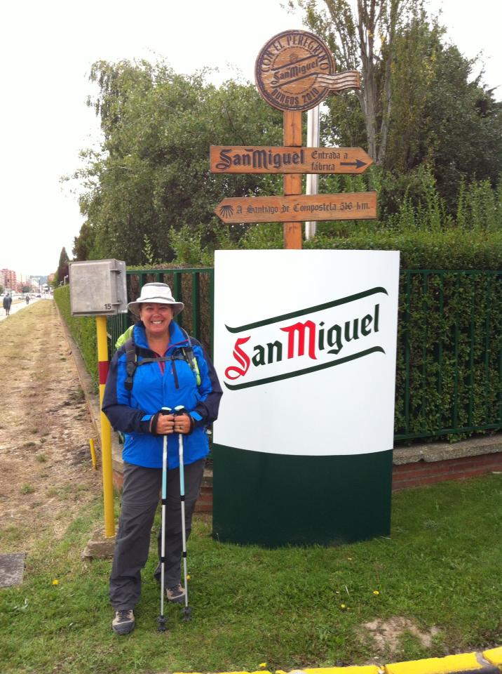Tracy at the San Miguel brewery near Burgos