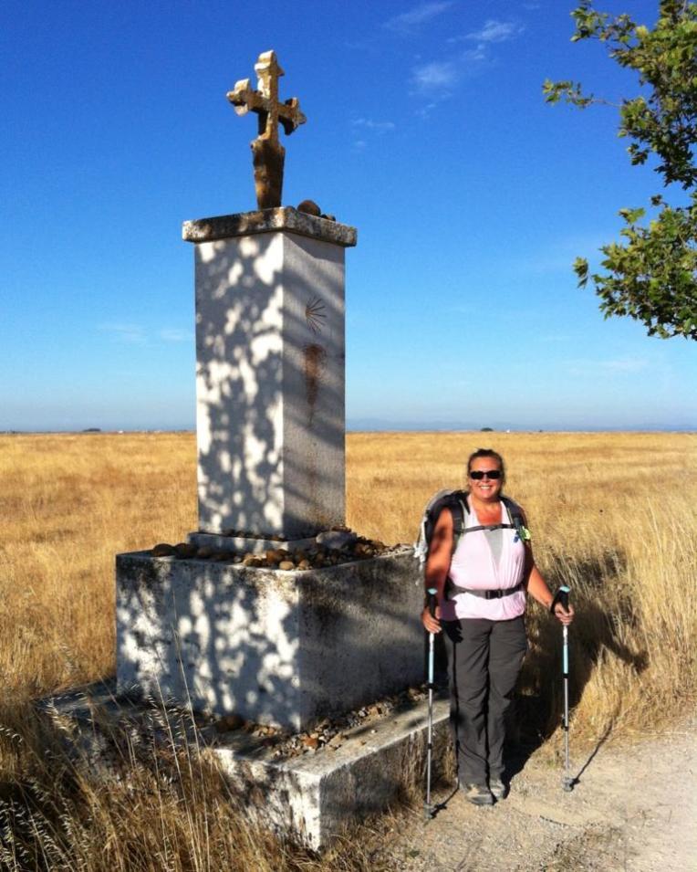 Camino marker along the Senda