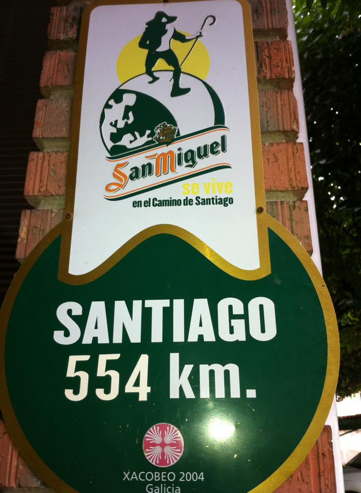 Santiago sign in Castildelgado