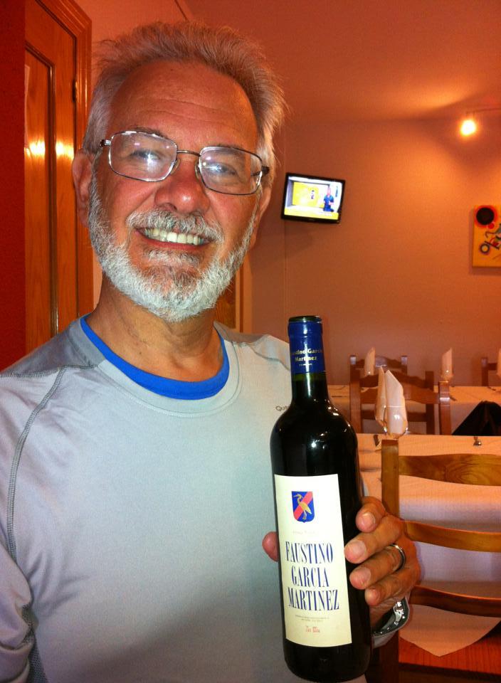 Alan enjoying some fine Spanish wine, Ages