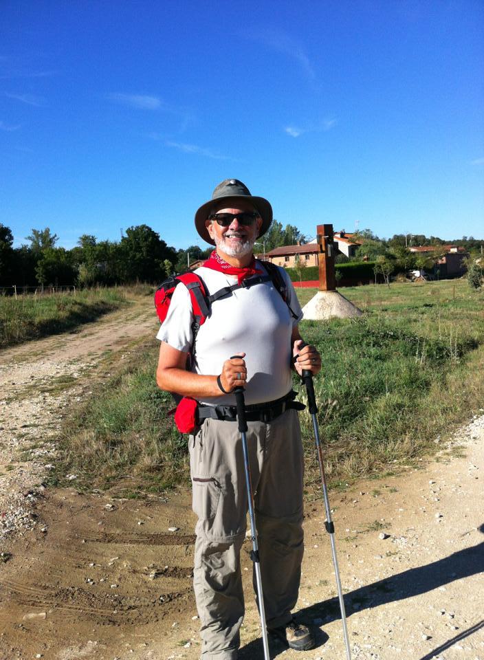 Alan on the trail near San Juan de Ortega