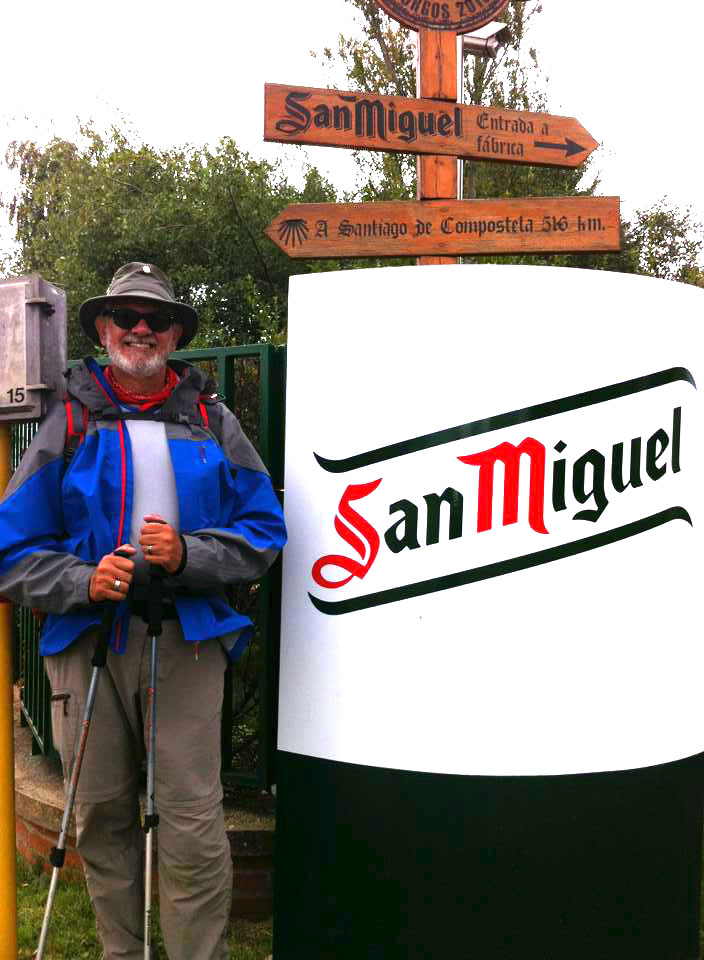 Alan at the San Miguel brewery outside of Burgos