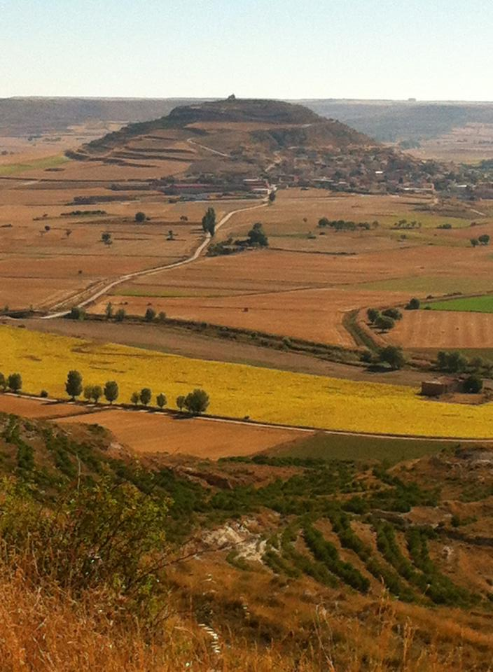 """Looking back at Castrojeriz from the top of """"Liar's Hill"""""""