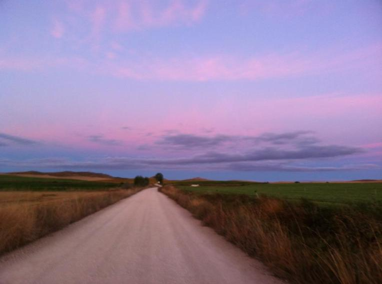 Daybreak on the Camino de Santiago