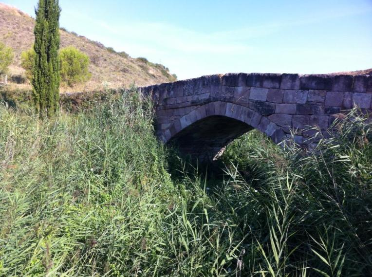Medieval bridge over Rio Salido (Salt River) or as we called it, River of Death