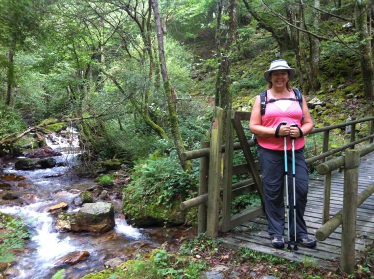 Tracy at the bridge just before Ganecoleta