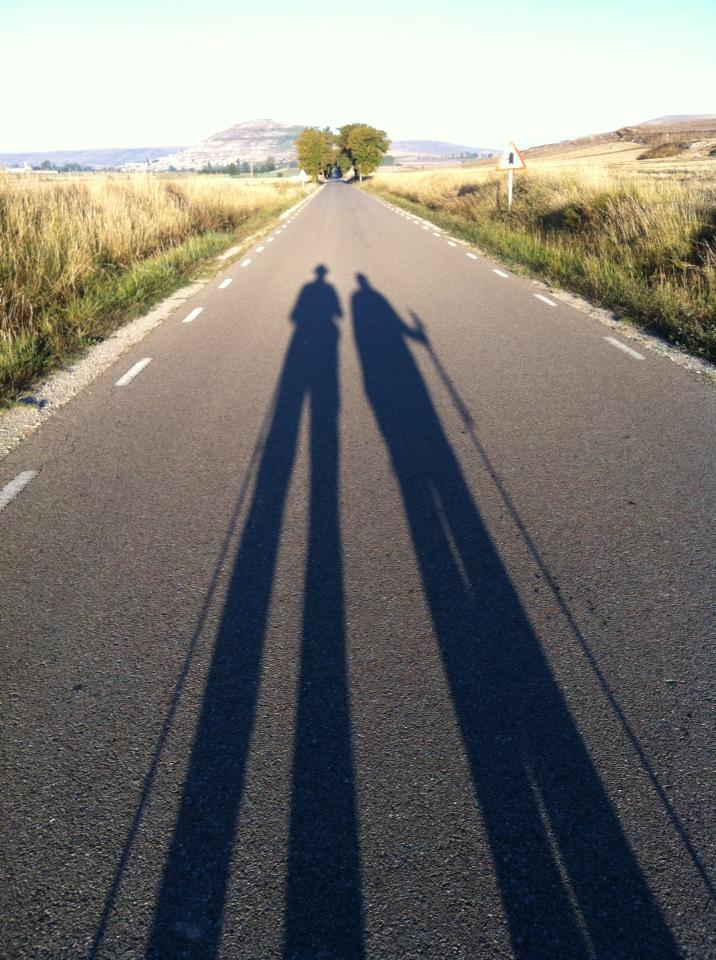 Mid-morning shadows as we approach Castrojeriz