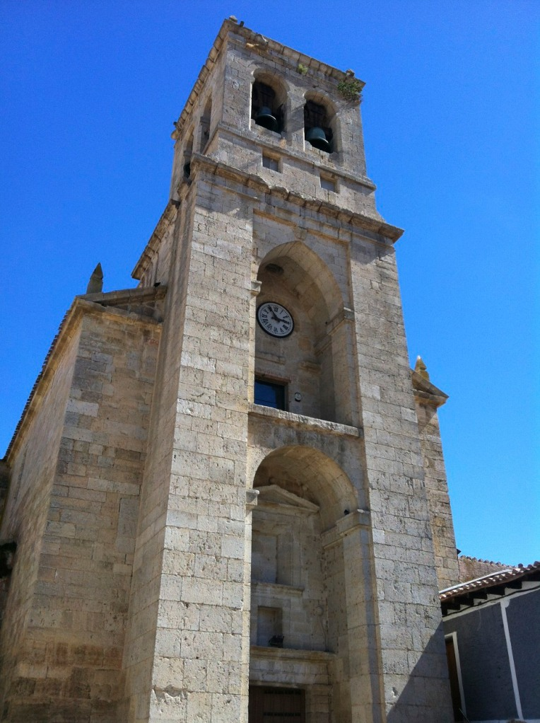 Portico and bell tower of the Church of the Conception, 14th century, Hontanas