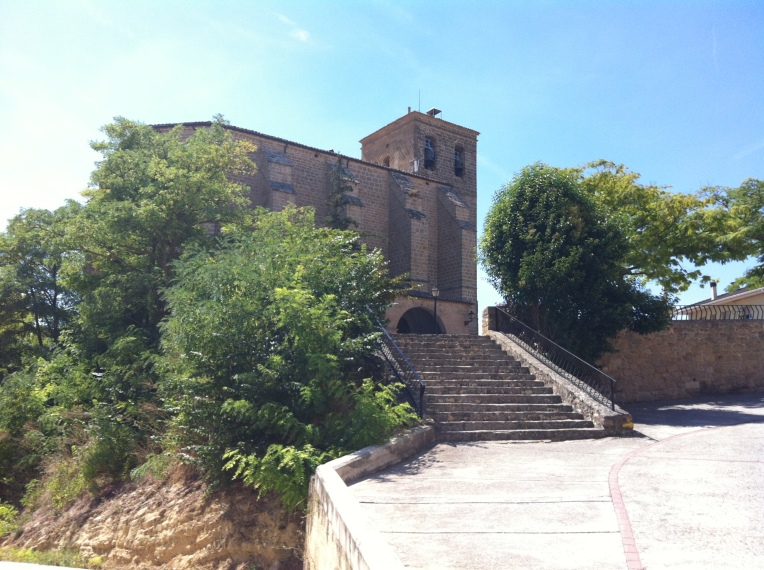 Steps leading up to Iglesia San Pedro in Estella