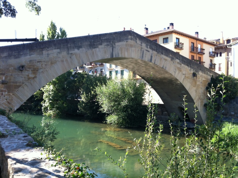Medieval bridge in Estella that we crossed to go to dinner