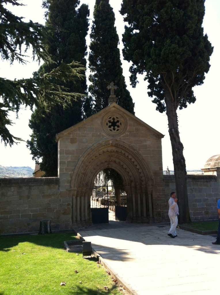 Cemetery outside of Navarette, this portico,13th century, was re-sited from the ruins of San Juan de Acre