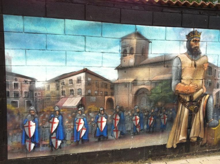 Mural of Templar Knights