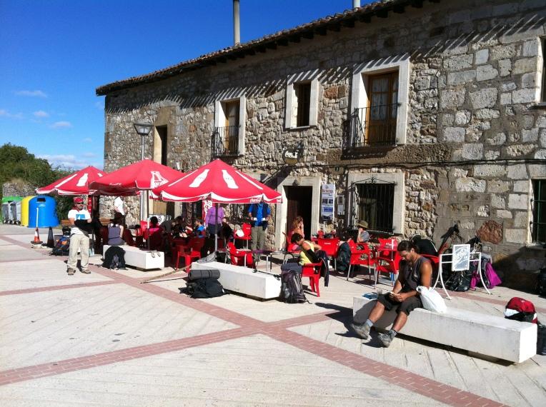 La Herera bar/restaurant, a popular pilgrim stop in San Juan de Ortega