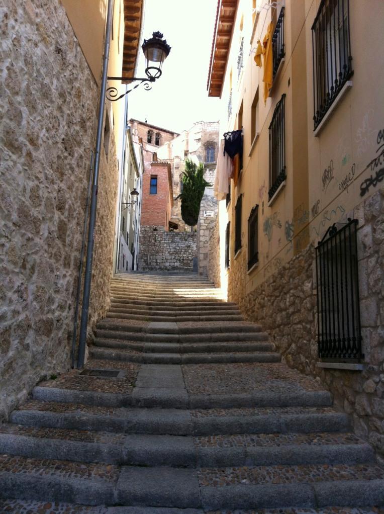 Street leading to the 15th century Church of San Nicolas, Burgos