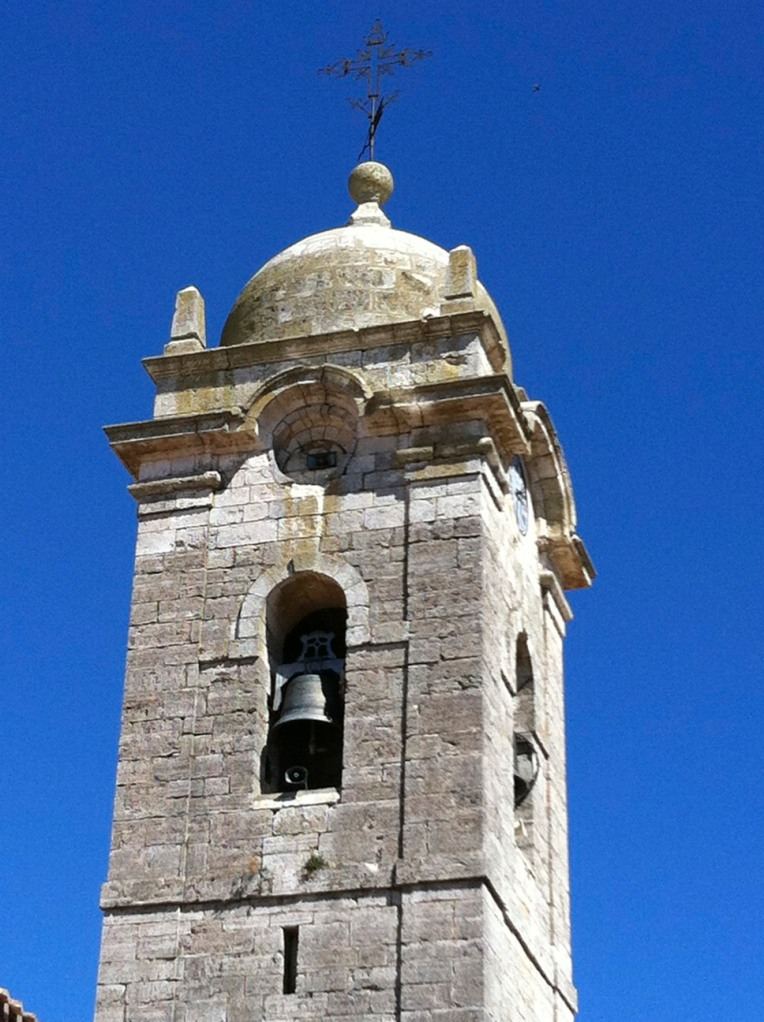 Bell tower of the Iglesia de Santa Marina, 13th century, Rabe de las Calzados