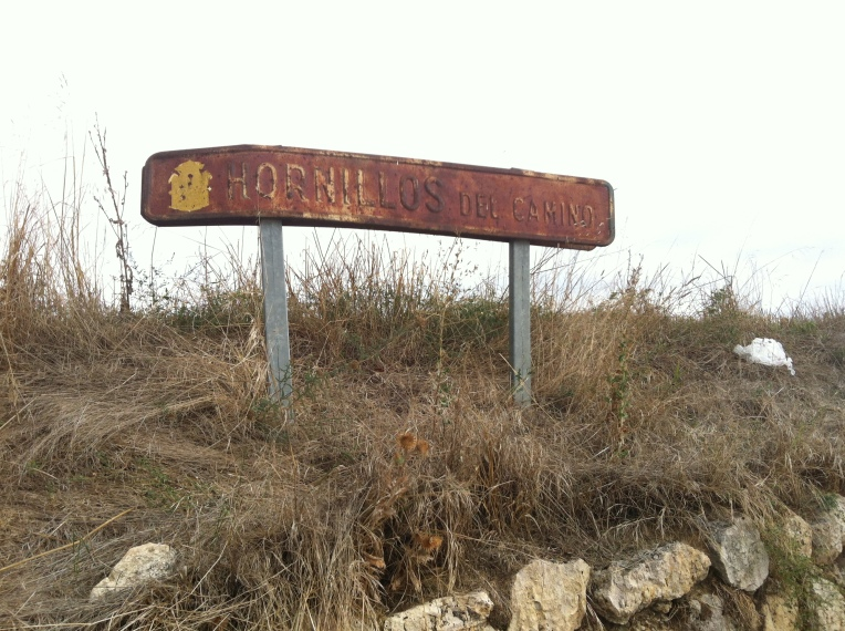 Old sign for Hornillos del Camino