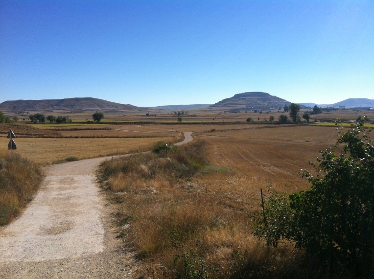 Looking back at the trail from Castrojeriz
