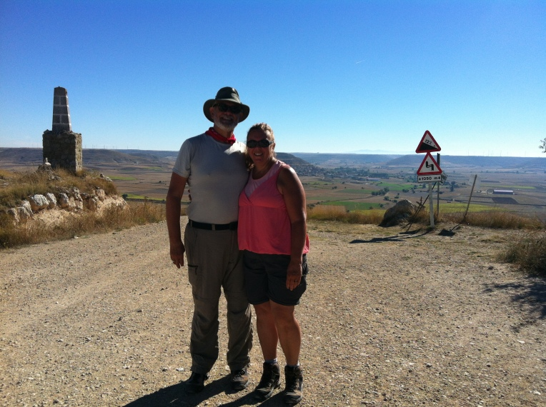 """Alan and Tracy at the summit of """"Liar's Hill"""""""